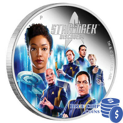 2019 $2 Star Trek: Discovery Crew 2oz Silver Proof Coin