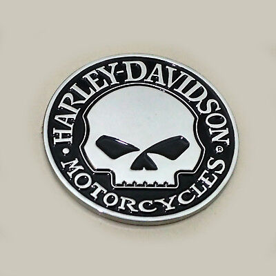 3D Willie G Skull METAL Emblem / Badge For Harley Davidson Tank / Body / Trunk