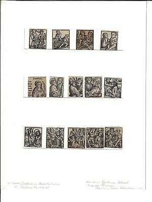1496 Fourteen Matted Initials From Schedel Chronicle Executions Martyrs