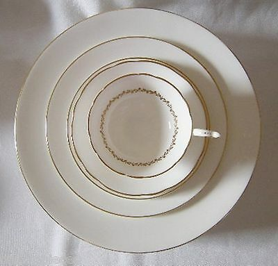 COALPORT CORONET 5 PC Place Setting Dinner Salad Side Plate Cup Saucer
