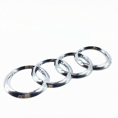 Car Rear Trunk Badge Rings Logo Silver Emblem for Audi A1 A3 A4 A5 A6 192mm