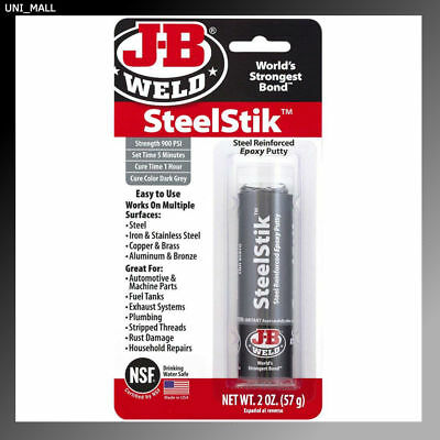J-B Weld New 8267 SteelStik Steel Reinforced Epoxy Putty Stick - 2 oz.