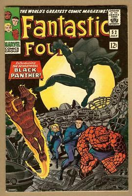 Fantastic Four #52- 1st Black Panther- Beautiful- Tear on Cover