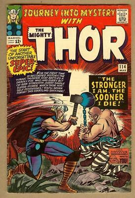 Journey Into Mystery #114- 1st Absorbing Man- 5.0 VG/Fine
