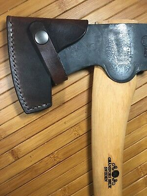 Handmade Leather Axe Mask/Sheath For Gransfors Bruk Scandinavian Forest Axe