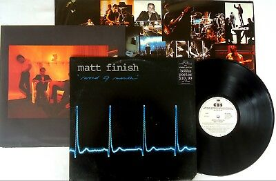Matt Finish ‎– Word Of Mouth LP 1984 CBS White Label Promo-Poster-sbp 237999
