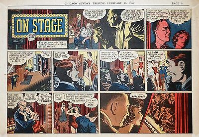 Mary Perkins On Stage by Starr - half-page color Sunday comic - Feb. 16, 1958