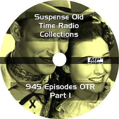 * SUSPENSE (1942-1962) OLD TIME RADIO OTR SHOWS * COMPLETE 945 EPISODES on DVD