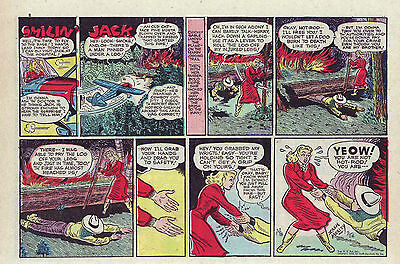 Smilin' Jack by Zack Mosley - half-tab color Sunday comic page February 26, 1950