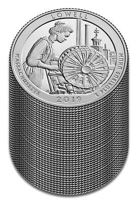 "2019 ""S"" ATB Lowell National Park, Clad Quarter, Proof, Roll/Lot of 40"