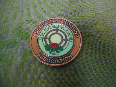 #D454.  2002 Sydney Issf World Cup Australian Shooting Association Medal