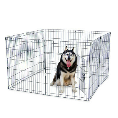 """New 30"""" Pet Dog Cat Tall Wire Fence Folding Exercise Yard Play Pen 8 Panel"""