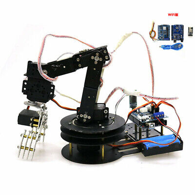 WIFI Control 5DOF Mechanical Robot Arm Clamp Claw Manipulator Kit