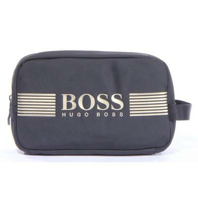 119186a331aad HUGO BOSS WASHBAG Mens Shave Toiletry Pouch Holiday Shaving Bag Grey ...