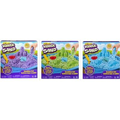 NEW Kinetic Magical Sand Box Set Assorted (1xPack Only) In/Outdoor Birthday Gift
