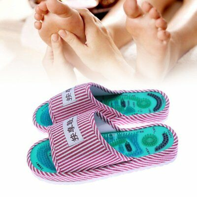 Massage Slippers Acupuncture Sandals Reflexology Foot Acupoint Health Shoes @wu