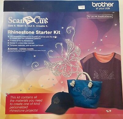 NIB Brother Scan And Cut Rhinestone Complete Starter Kit