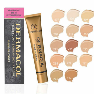 2019 Dermacol High Cover Makeup Foundation Waterproof SPF-30K.BUY 4 & FREE GEFT
