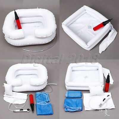 Portable Sink For Washing Hair Inflatable Shampoo Basin Bed Built Pillow S M PVC