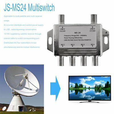 Mini 2x4 JS-MS24 Satellite Signal Multiswitch LNB Voltage Selected Switch SA