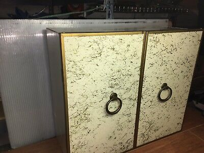 Vtg 1950's Metal Wall Mount Cabinet Kitchen Cupboard / Utility ~WELL BUILT!