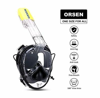ORSEN Snorkel Mask Full Face 180°View Diving Mask With Action. NEW IN BAG