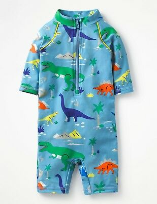 Baby Boys New Mini Boden Sample Animal Surf Suit - 3-6m - Dinosaur UV50+ Sun Pro