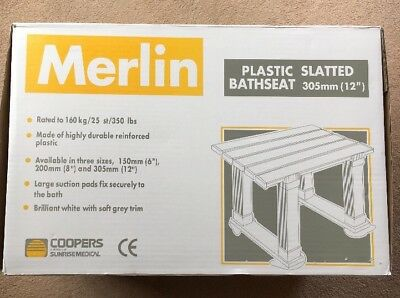 Coopers MERLIN Plastic Slatted Bathseat / Bath Seat - model 10159C