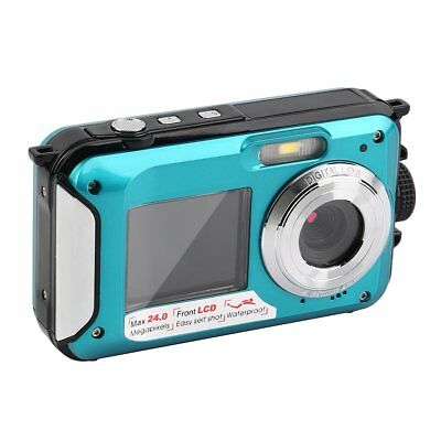 Double Screen HD 24MP Waterproof Digital Video Camera 1080P DV Underwater NEW HK