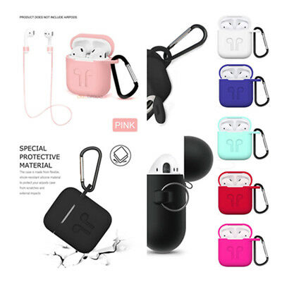 AirPods Silicone Case Cover Soft Protective Skin For Apple Airpods Charging Case