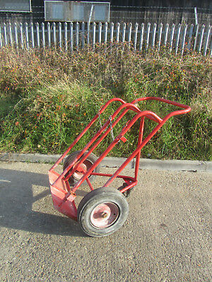 Gas Cylinder Bottle Trolley Heavy Duty For Oxygen & Acetylene Bottles Ref 7339