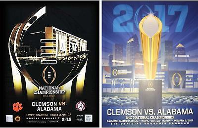Clemson 2017 & 2019 College Football Playoff National Championship Game Programs