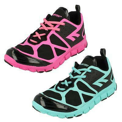 Ladies Hitec Lightweight Breathable Casual Lace Up Textile Trainers Kali XT