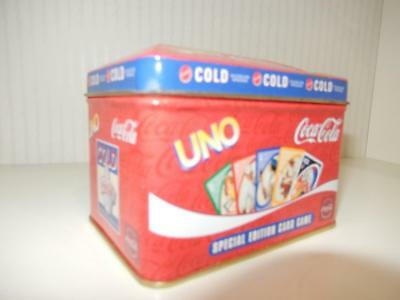 Coca-Cola Special Edition Deluxe Collector Tin * Uno Playing Card Game * USED *