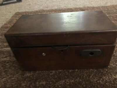 Antique Victorian Magneto-Electric Shock Machine in Wooden Box
