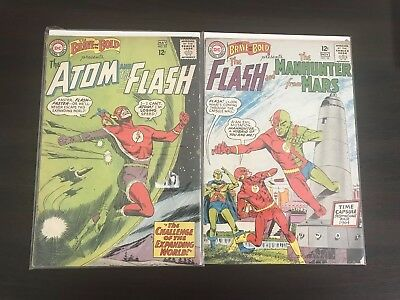 The Brave And The Bold #53 & 56 ==> Vg Flash Atom Manhunter Dc Comics 1964