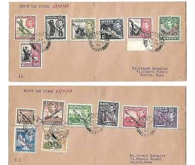 Malta(New Constitution Definitive Inc. New Colours) Set of 21 Stamps on 3 FDC's