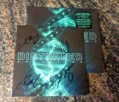 SIGNED DISTURBED Evolution Deluxe Edition CD Autographed
