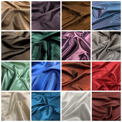Superior Quality Deluxe Taffeta Fabric 145cm: 18 Colours Available