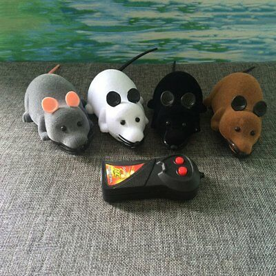 RC Wireless Rotation Mouse Electronic Rat Toy Flocking Tricky Mouse Toy J8