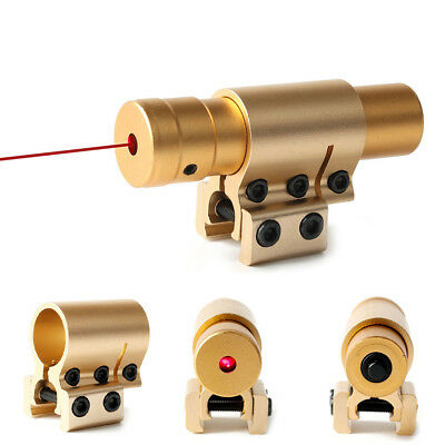 Mini Gold Tactical Red Dot Laser Sight Scope 20mm Mount Rail Fast Aiming