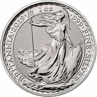 Lot of 100 - 2019 Great Britain 1oz Silver Britannia .999 BU