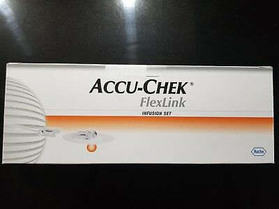 Accu-Chek Flex Link 8mm/30cm x10 Insulin Pump Infusion Set Exp:01/03/2020 Sealed