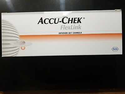 Accu-Chek Flex Link 8mm x10 Insulin Pump Infusion Set Cannula Exp: 01/05/2020