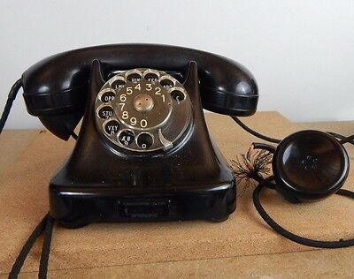 Rare Bakelite Antique / Vintage Kristian Kirks Telephone with 2nd earpiece