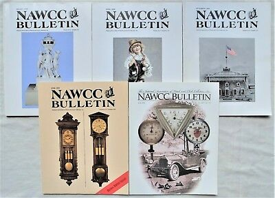 NAWCC BULLETINS(5)NATIONAL ASSOCIATION of WATCH and CLOCK COLLECTORS 1999-2002
