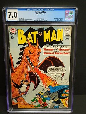 DC COMICS BATMAN #155 1963 CGC 7.0 WHITE PAGES 1st SILVER AGE PENGUIN APPEARANCE