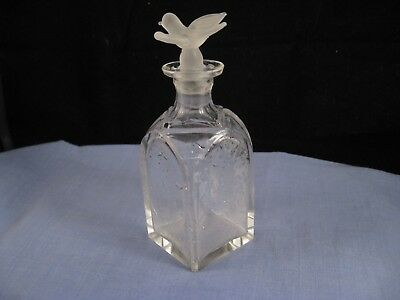 Perfume Scent Bottle Antique Glass Bird Stopper Art Nouveau Baccarat Nina Ricci