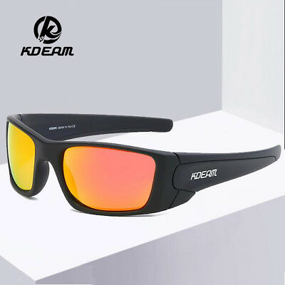 bd3d649aaf3 KDEAM Men Polarized TR90 Sunglasses Outdoor Driving Fishing Riding Glasses  New