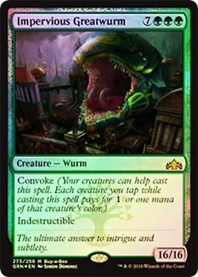 Impervious Greatwurm *FOIL* MTG Guilds of Ravnica Buy-a-Box Promo Mythic Rare